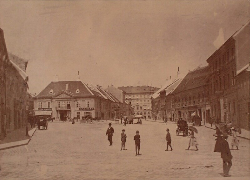 Dísz square from the south, around 1890