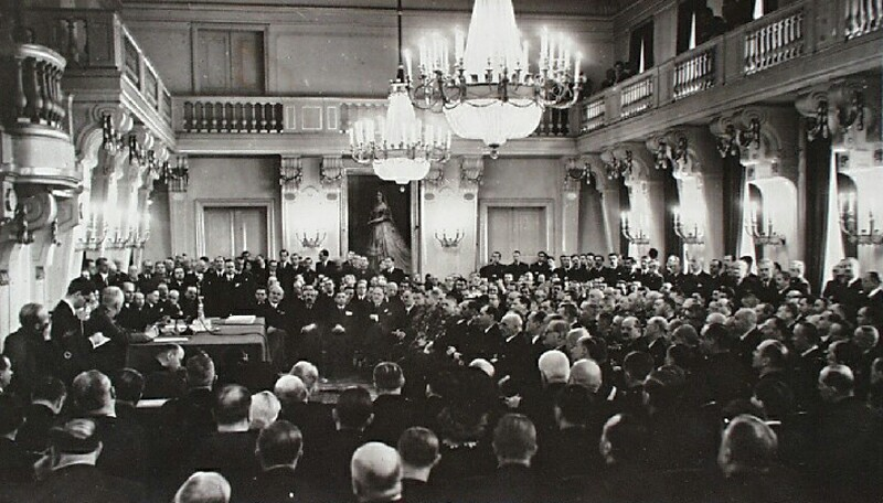 Event in the ceremonial hall of the Home Office, 1939