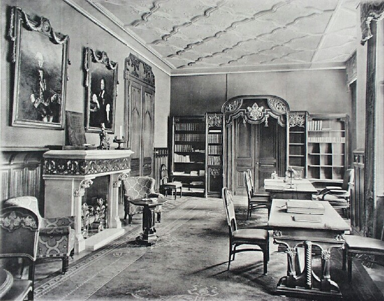 The audition hall of the Ministry of Finance, 1910s