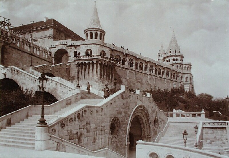 Halászbástya (Fishermen's Bastion) from the south-east, around 1903