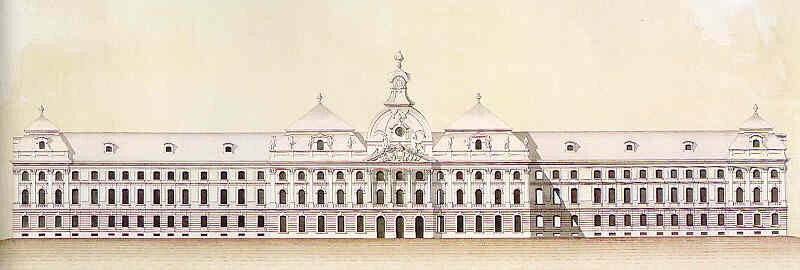 After Zeller Sebestyén: The eastern facade of the baroque palace, after 1758