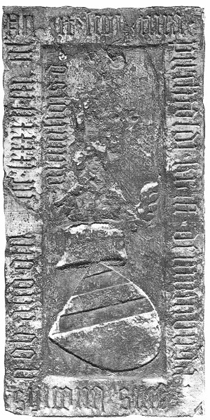 The tombstone of Berthold Kraft from Nürnberg (died in 1392) from the medieval Dominican convent