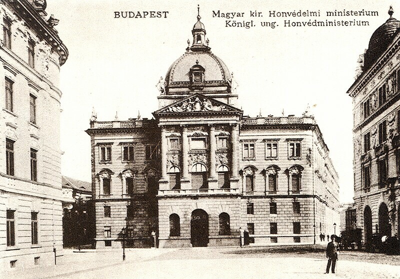 The building of the Ministry of Defence in the Buda Castle