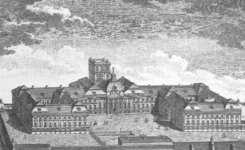 The Buda Castle in the 18th century - engraving by Mansfeld