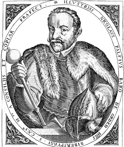 Ortelius: Count Miklós Pálffy - copper engraving
