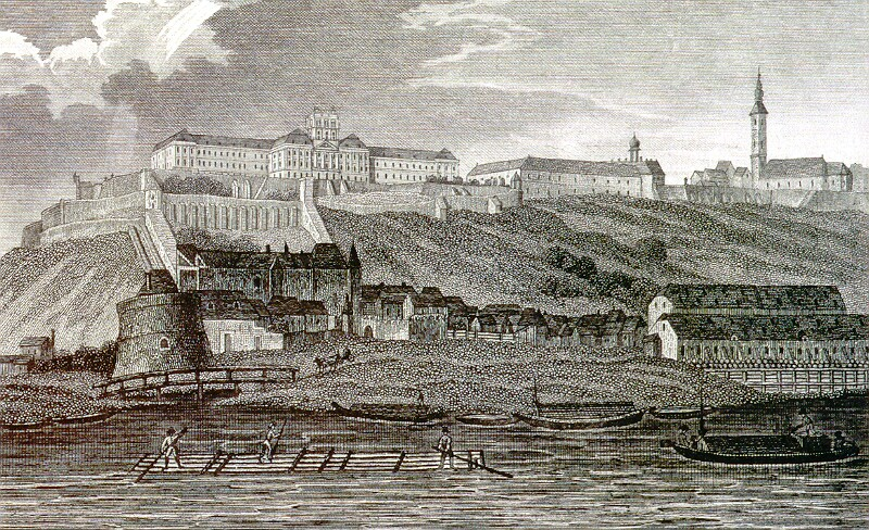 Leopold Zechmeyer: Royal palace as University - steel engraving, the first half of the 19th century