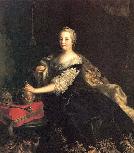 Maria Theresa with her crowns