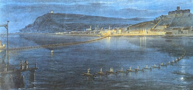 The ceremonial lights of Buda to the honour of the Viennese Congree, 1814