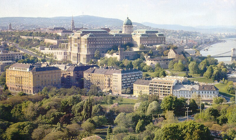 The Buda Castle and its neighbourhood from the Gellért hill