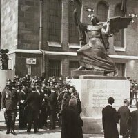 Bécsi gates square, the dedication ceremony of the monument erected on the anniversary of the recapture of Buda, 2 September, 1936