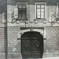 The gates of No. 1 Bécsi Gates square, 1920s
