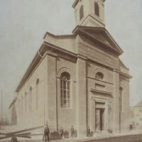 The former Lutheran church on Dísz square, around 1890