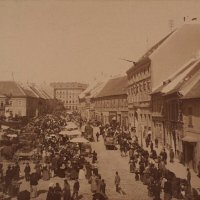 Weekly fair on Dísz square, 1895