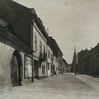 Fortuna street from the Bécsi Gates square, 1920s