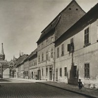 Fortuna street towards the Bécsi gates square, 1920s
