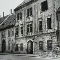 The ruined Fortuna street, 1950