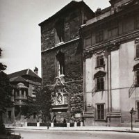 St Michael tower with the King Matthias memorial, around 1930