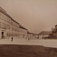 Kapisztrán (Nándor) square from the west, around 1890