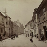 The northern part of Országház street, 1890s