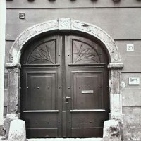 Entrance of No. 20 Országház street, end of 1960s