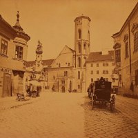 Matthias Church from Szentháromság street, around 1870