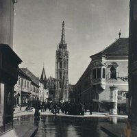Matthias Church from Szentháromság street, around 1910
