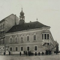 The building of the Town Hall of Buda, around 1900