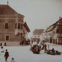 Szentháromság square, around 1890