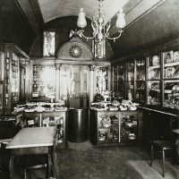 The inside of the Ruszwurm confectioner's
