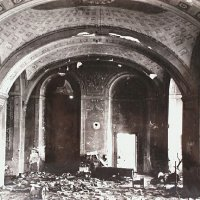 Ruined hall in the former Carmelite convent, 1947
