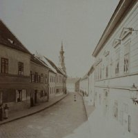 Táncsics Mihály street towards the Bécsi Gates square, 1890s