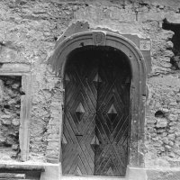 No. 6 Táncsics Mihály street, Turkish door post and window made of renaissance marble, 1961