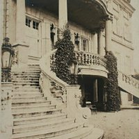 The entrance of No. 7 Táncsics Mihály street, from the garden, 1930s