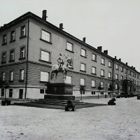 The equestrian statue of Artúr Görgei on the Bastion promenade, around 1940