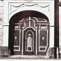 Gates of No. 35 Úri street, 1980s