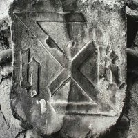 The sign of H. K. stone-cutter master on the yard of Bo 36 Úri street