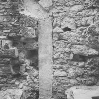 No. 41 Úri street, frame stone of a Turkish gate, on the ground floor facade of Dárda street, 1959