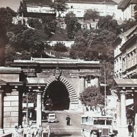 The Tunnel with the bridgehead in Buda, 1929