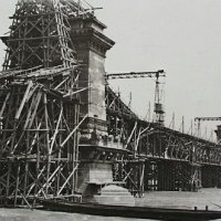 The reconstruction of the Chain Bridge, 1914