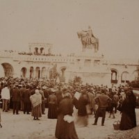 The inauguration of the Saint Stephen statue, 1906