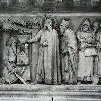 Relief from the Saint Stephen statue, 1945