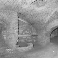 In front of No. 14-15 Dísz square, cellar with medieval well and modern brick vault