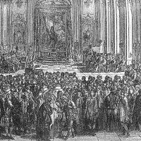 The opening of the University of Buda - copper engraving