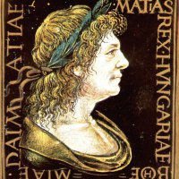 Portrait of King Matthias with a laurel wreath