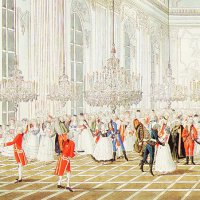 József Pollencig: The Palatine's reception in the ceremonial hall of the palace, 1795