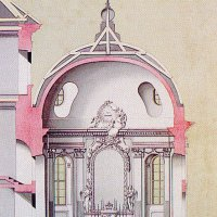 Joseph Hillebrandt: The drawing of the chapel of the Holy Right, around 1778