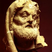 Head of an apostle from the statue finding of the Buda Castle, 15th century