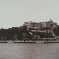 The view of the Buda Castle, 1896