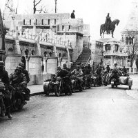 German Motorcycle Corp in the Buda Castle, March 1944