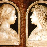 The relief portrait of Matthias and Beatrix, Buda Castle